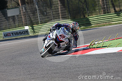 Leon Camier - Suzuki GSX-R 1000 - Crescent Editorial Stock Photo