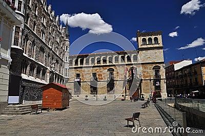 Leon, Spain, central square