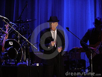 Leonard Cohen - Florence 2010 Editorial Stock Photo