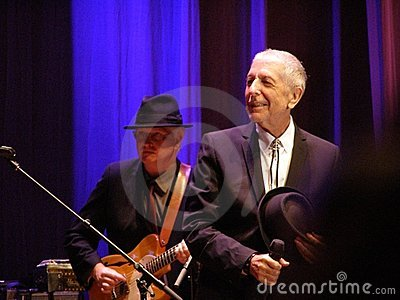 Leonard Cohen - Florence 2010 Editorial Stock Image