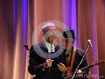 Leonard Cohen - Florence 2010 Editorial Photo