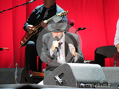 Leonard Cohen (live in Lucca 2013) Editorial Image