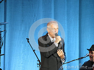 Leonard Cohen (Lucca 2013) Editorial Stock Photo