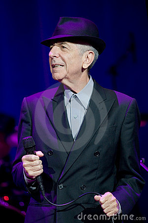 Leonard Cohen performs on stage at Sportarena Editorial Image