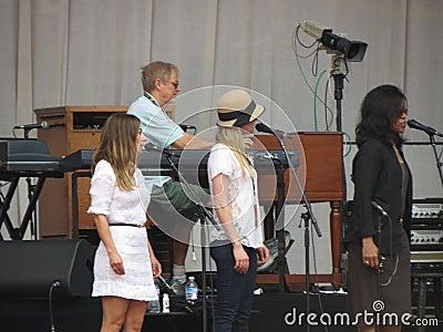 Leonard Cohen tour (Lucca 2013) Editorial Photo