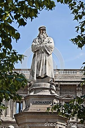 Free Leonardo Da Vinci Memorial Stock Image - 24838871
