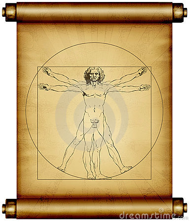 Leonardo da Vinci Vitruvian  Editorial Stock Photo