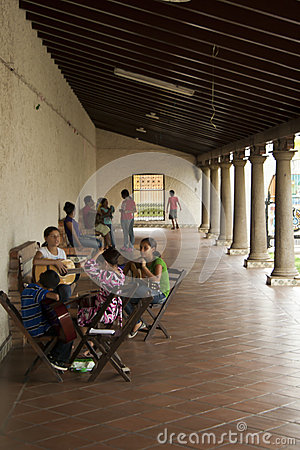 Leçons de Nicaragua de guitare Photographie éditorial