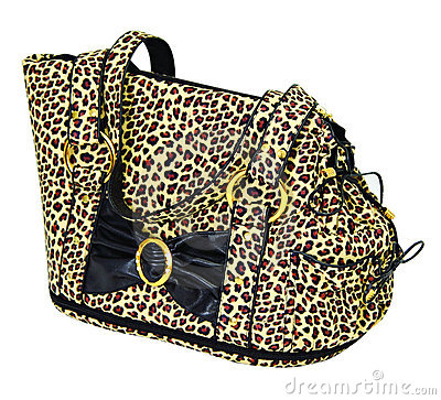 Leopard cloured bag for dog