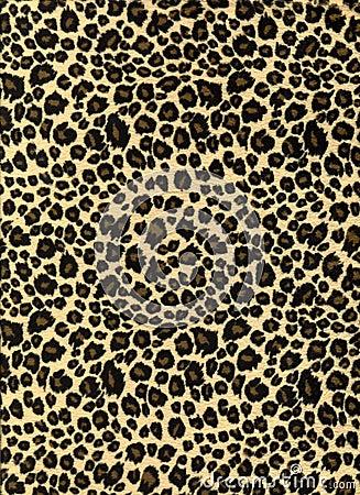 Leopard print fabric texture