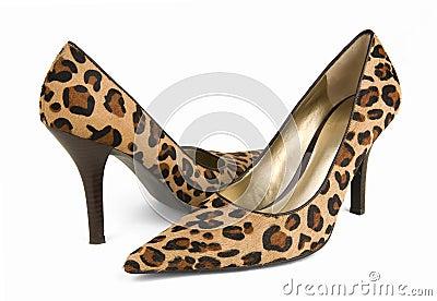 Leopard Print High Heel Shoes