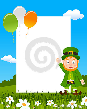 Leprechaun and Balloons Photo Frame
