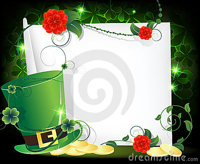 Leprechaun hat entwined with ivy