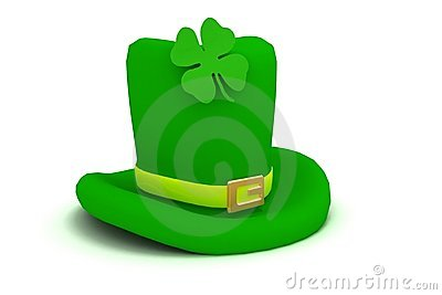 4 clovers and leprechaun