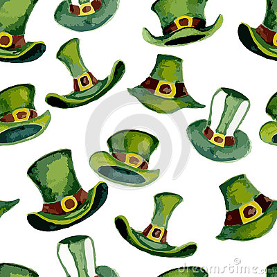 Free Leprechaun Hats Pattern Stock Photo - 50785770