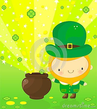 Leprechaun and magic pot