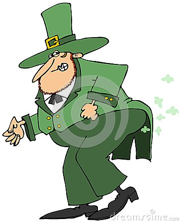 Leprechaun passing gas