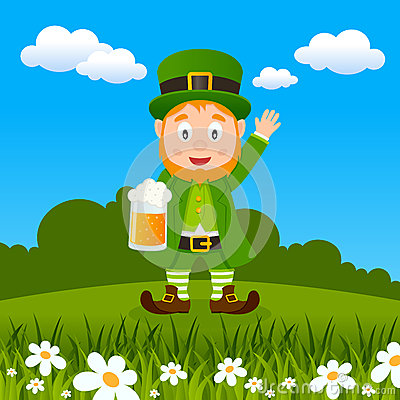 Leprechaun Patrick s Day Drinking Beer