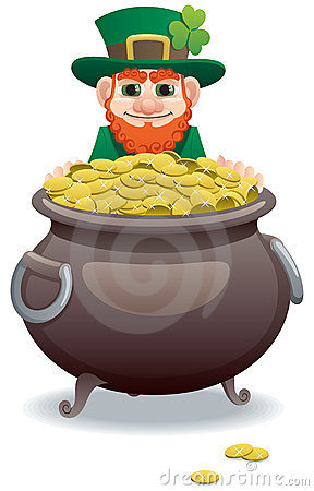 Leprechaun And Pot Of Gold Stock Photos - Image: 22609753