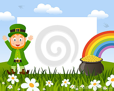 Leprechaun and Pot of Gold Photo Frame
