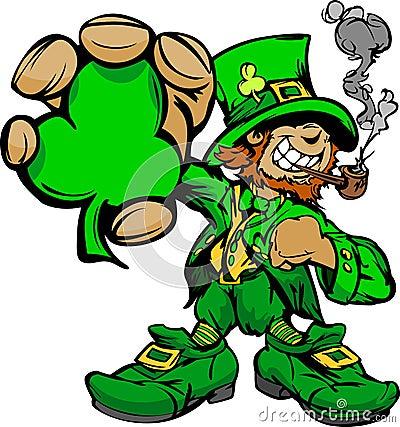 Leprechaun sonriente del día del St. Patricks