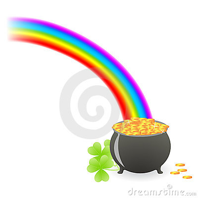 Leprechaun treasure cauldron