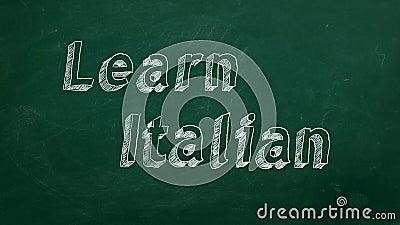 Lernen Sie Italienisch vektor abbildung