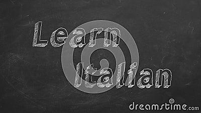 Lernen Sie Italienisch stock abbildung