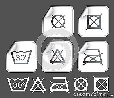 les tiquettes souhaitent des symboles de lavage images stock image 6237974. Black Bedroom Furniture Sets. Home Design Ideas
