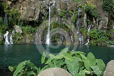 Les Cormorans waterfall at Saint Gilles on Reunion