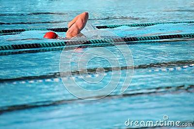 Les genoux nageant
