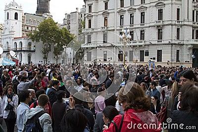 Pape de cathédrale de Buenos Aires Photo stock éditorial