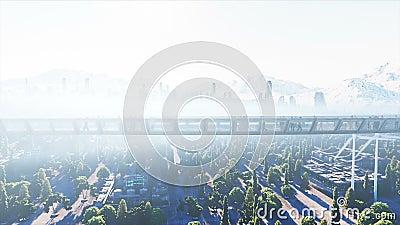 les gens 3d dans le tonnel de Sci fi circulation Concept d'avenir Animation 4K r?aliste banque de vidéos