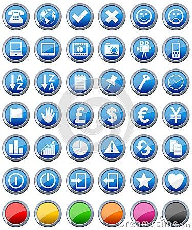 Les graphismes lustrés de boutons ont placé [2]