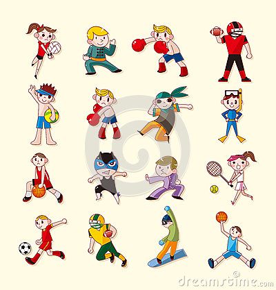 Icônes de joueur de sport réglées