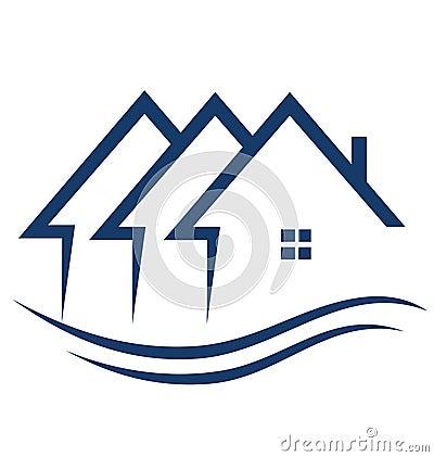 Les immeubles renferment le logo
