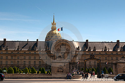Les Invalides hospital in Paris Editorial Photo