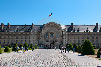 Les Invalides hospital in Paris Editorial Stock Image