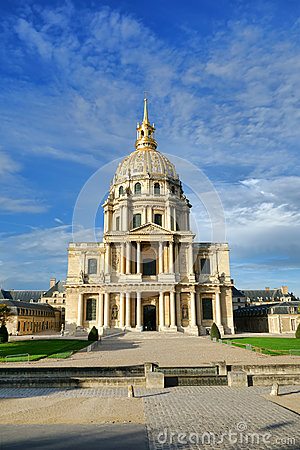 Les Invalides Landmark Chapel in Paris France