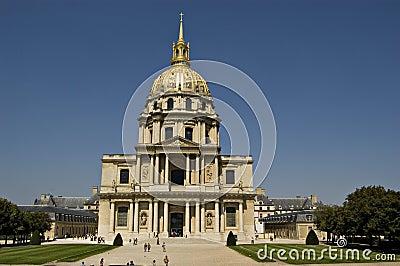 Les Invalides in Paris. France