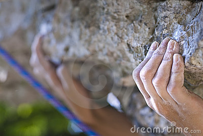 Les mains du grimpeur