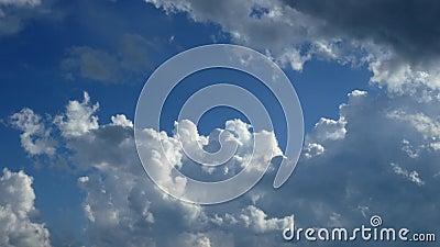 Les nuages de tempête se forment dans ce clip temporel Beau ciel bleu avec cumulus congestus nuages banque de vidéos