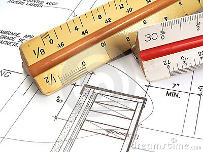 Les outils et les plans de l 39 architecte photos libres de for Outils architecte