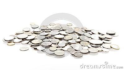 Les pièces de monnaie ont isolé