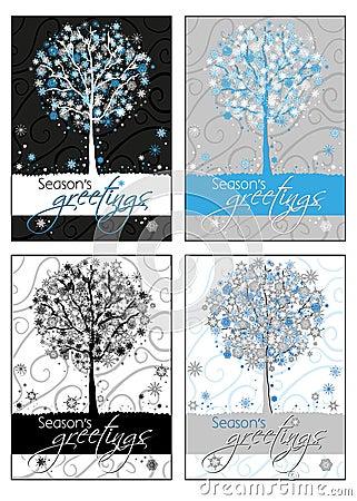 Les salutations de la saison - cartes de voeux