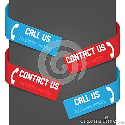 Les signes latéraux gauches et droits - appelez-nous et contactez-nous