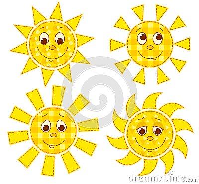 Les soleils de patchwork