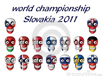 Les symboles nationaux du hockey sur glace évente - le champi du monde