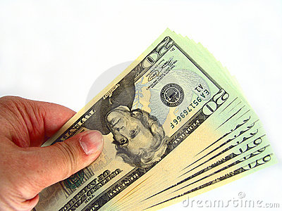 Les USA billets de vingt dollars et main