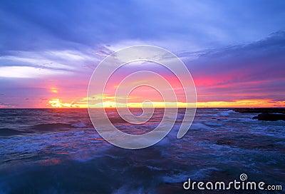 Les vagues de bleu